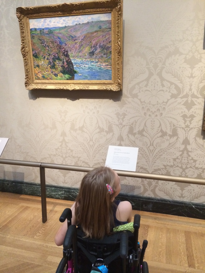 We all loved our day off at the museum. Claire really loved getting to see so many different paintings.