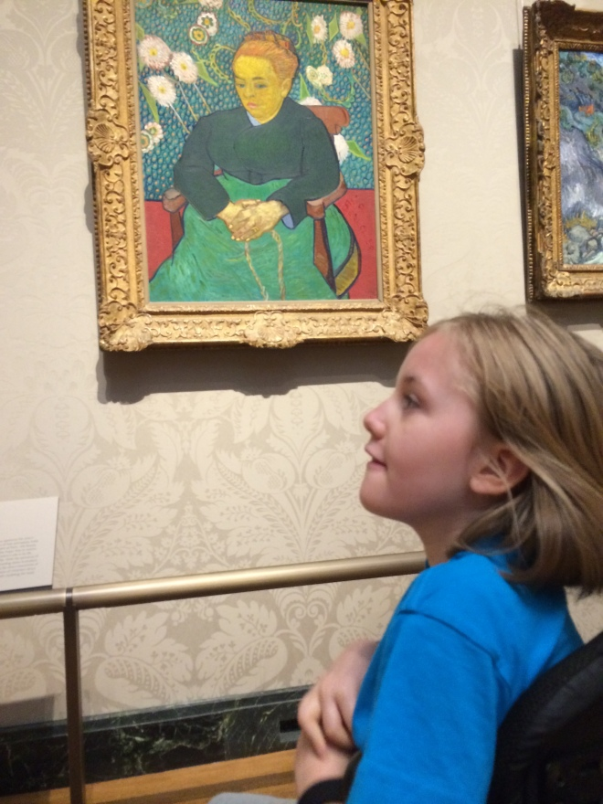 Claire was particularly amused that the subject in this Van Gogh appears to have Rett syndrome as well.